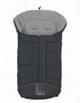 molliger Baby Winter Fleece Fußsack grau meliert, voll waschbar, für Kinderwagen, Buggy, ca. 98x47cm