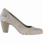 s.Oliver stilvolle Damen Leder Imitat Pumps pepper, gepolstertes Soft-Foam-Fußbett, 1041101