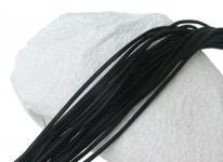 10 Stück Rindleder Rundriemen schwarz, geschnitten, für Lederschmuck, Lederketten, Länge 100 cm, Ø 3 mm