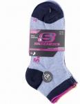 Skechers Basic NOS Quarter Girls Mädchen Socken stone, 4er Pack Skechers Mädchen Socken blaugrau, 6539120