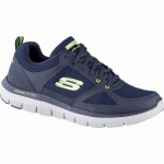 Skechers Flex Advantage 2.0 coole Herren Mesh Sneakers navy, Air-Cooled Memory Foam-Fußbett, 4242124/39
