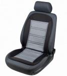 Beheizbare Sitzauflage schwarz grau mit Thermostat, Auto Sitzheizung/Heizkissen
