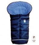 molliger Baby Winter Fleece Fußsack marineblau, für Tragschalen, Autositze, ca. 79x39 cm, warm wattiert