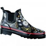 Beck Daisy Damen Gummi Regen Boots schwarz, Baumwollfutter, herausnehmbare Einlegesohle, 5034103