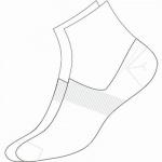 Camano Basic NOS Invisible white, 2er Pack Damen, Herren unsichtbare Sneaker Socken weiß, 74% Baumwolle, 6539110