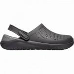 Crocs Lite Ride Clog superweiche + leichte Damen, Herren Clogs black, Massage Fußbett, 4341102/43-44