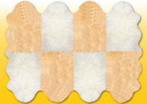 Fellteppiche naturweiß-beige aus 8 Lammfellen, Größe ca. 185 x 235 cm, 30 Grad waschbar