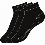 Camano Basic NOS Ca-Soft Quarter 3er Pack Damen, Herren Socken black, 6539116
