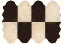 Fellteppiche beige-braun aus 8 Lammfellen, Größe ca. 185 x 235 cm, 30 Grad waschbar