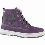 Lurchi Doug warme Mädchen Leder Tex Boots purple, breitere Passform, 9 cm Schaft, Warmfutter, Fußbett, 3741183