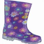 Lico Powerlight Mädchen Synthetik Regenstiefel lila, rutschfeste Gummilaufsohle, 5038101