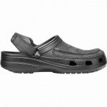 Crocs Yukon Vista Clog leichte Herren Pantoletten black, mit Leder verarbeitet, 4340116/45-46