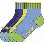 Skechers Basic Quarter Boys Jungen Socken caribic, 4er Pack Skechers Jungen Socken bunt, 6539122