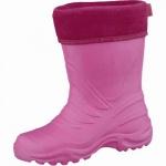 Beck Ultraleicht Mädchen Winter Gummistiefel pink aus EVA, wasserdicht, molliges Warmfutter, bis -30 Grad, 5037102/22-23