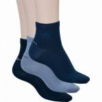 s.Oliver Classic NOS Unisex Quarter, 3er Pack Damen, Herren Socken blau, 6533120