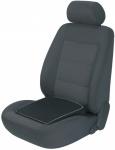 ergonomisches Baumwoll Auto Keil Sitzkissen schwarz grau 36x41 cm, entlastet Rücken+Wirbelsäule, 30 Grad waschbar