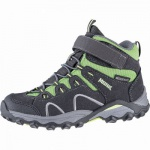 Meindl Lucca Junior Mid leichte Jungen Velour Outdoor Boots anthrazit, Clima+Nässeschutz-Futter, Fußbett, 4441122
