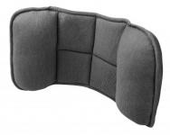 ergonomisches Memory Foam Auto Lendenstütz Kissen schwarz 24x45 cm, entlastet Rücken+Wirbelsäule