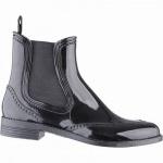 Beck City chice Damen PVC Regen Boots schwarz, herausnehmbare Einlegesohle, Gummi Laufsohle, 5041103