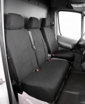 Passform Transporter Sitzbezüge Mercedes Sprinter, passgenauer Stoff Sitzbezug Einzelsitz+Doppelbank, ab Bj. 05/2006