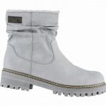 s.Oliver coole Damen Velourleder-Imitat Winter Boots grau, molliges Warmfutter, Soft-Foam-Fußbett, 1639335/41