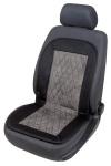 weiches Polyester Jersey Auto Sitzheizkissen schwarz mit Regelschalter, Heizfunktion Sitzfläche+Rückenlehne, für alle Fahrzeuge