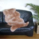 australische Doppel Lammfelle aus 1, 5 Fellen camel gefärbt, voll waschbar, ca. 140x68 cm