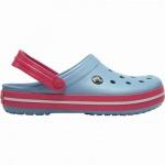 Crocs Crocband leichte Damen Clogs chambray blue, Croslite Foam-Fußbett, Belüftungsöffnungen, 4340105/42-43