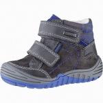 Richter Jungen Leder Sympatex Boots steel, mittlere Weite, molliges Warmfutter, warmes Fußbett, 3241121