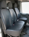 Passform Transporter Sitzbezüge VW LT, passgenauer Kunstleder Sitzbezug Einzelsitz+Doppelbank, Bj. 01/1996-04/2006