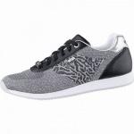 MEXX coole Damen Strick Sneakers black, herausnehmbares Fußbett, 1242175/36