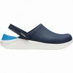 Crocs Lite Ride Clog superweiche + leichte Damen, Herren Clogs navy, Massage Fußbett, 4341104/36-37