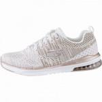 Skechers Skech-Air-Infinity coole Damen Strick Sneakers white rosegold, Air-Cooled-Memory-Foam-Fußbett, 4142112/36