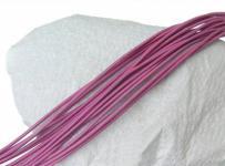 10 Stück Ziegenleder Rundriemen rosa, geschnitten, für Lederschmuck, Lederketten, Länge 100 cm, Ø 1 mm