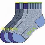 Skechers Basic NOS Quarter Boys Jungen Socken stone, 4er Pack Skechers Jungen Socken blaugrau, 6539123