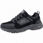Skechers Oak Canyon coole Herren Synthetik Sneakers black, Skechers Air-Cooled Memory Foam-Fußbett, 4241150
