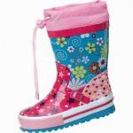 Beck Stars Mädchen Gummistiefel fuchsia aus Gummi, flexible Laufsohle, 5026100