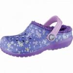 Crocs Classic Lined Graphic Clogs Kids Mädchen Winter Crocs blue, Warmfutter, warmes Fußbett, 4339108/29-30