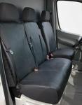 Passform Transporter Sitzbezüge Mercedes Sprinter, passgenauer Kunstleder Sitzbezug Einzelsitz+Doppelbank, ab Bj. 05/2006