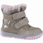 Lurchi Jaufen Mädchen Winter Leder Tex Boots taupe, 8 cm Schaft, molliges Warmfutter, warmes Fußbett, 3241119