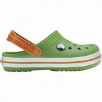 Crocs Crocband Clog Kids Mädchen, Jungen Crocs grass green, anatomisches Fußbett, Belüftungsöffnungen, 4340121/29-30