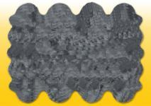 Fellteppiche grau gefärbt aus 8 Lammfellen, Größe ca. 185 x 235 cm, 30 Grad waschbar