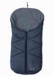 molliger Baby Winter Fleece Fußsack blau meliert, für Tragschalen, Autositze, ca. 79x39 cm, warm wattiert