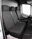 Passform Transporter Sitzbezüge VW Crafter, passgenauer Stoff Sitzbezug Einzelsitz+Doppelbank, ab Bj. 05/2006
