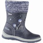 s.Oliver Mädchen Leder Imitat Winter Tex Stiefel navy, 14 cm Schaft, Warmfutter, weiches Soft Foam Fußbett, 3741101