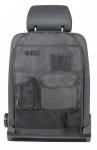 Polyester Auto Rücksitz Organizer mit Taschen schwarz, PKW Rückenlehnen Schutz, 64x40 cm, Auto Tasche
