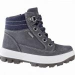 Superfit Jungen Winter Leder Gore Tex Boots grau, 7 cm Schaft, Warmfutter, warmes Fußbett, mittlere Weite, 3741143