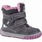 Lurchi Jaufen Mädchen Winter Leder Tex Boots grey, 8 cm Schaft, molliges Warmfutter, warmes Fußbett, 3241118