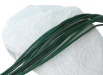 10 Stück Ziegenleder Rundriemen dunkelgrün, geschnitten, für Lederschmuck, Lederketten, Länge 100 cm, Ø 1 mm