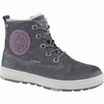 Lurchi Doug Mädchen Winter Leder Tex Boots charcoal, Warmfutter, warmes Fußbett, breitere Passform, 3739129